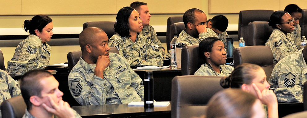 SNCOs during a leadership course