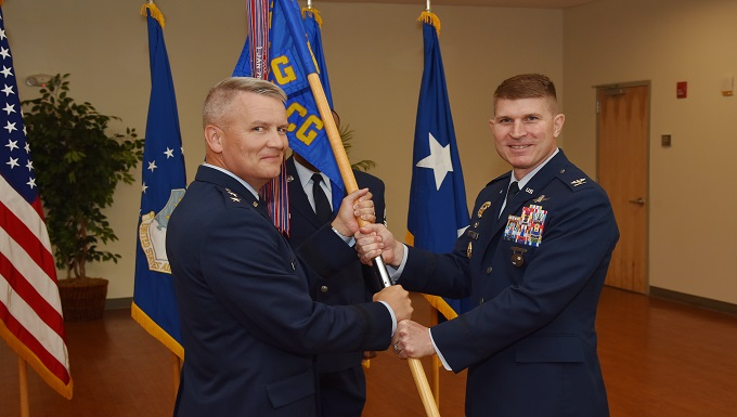 Sinks assumes command of the 844th Communications Goup