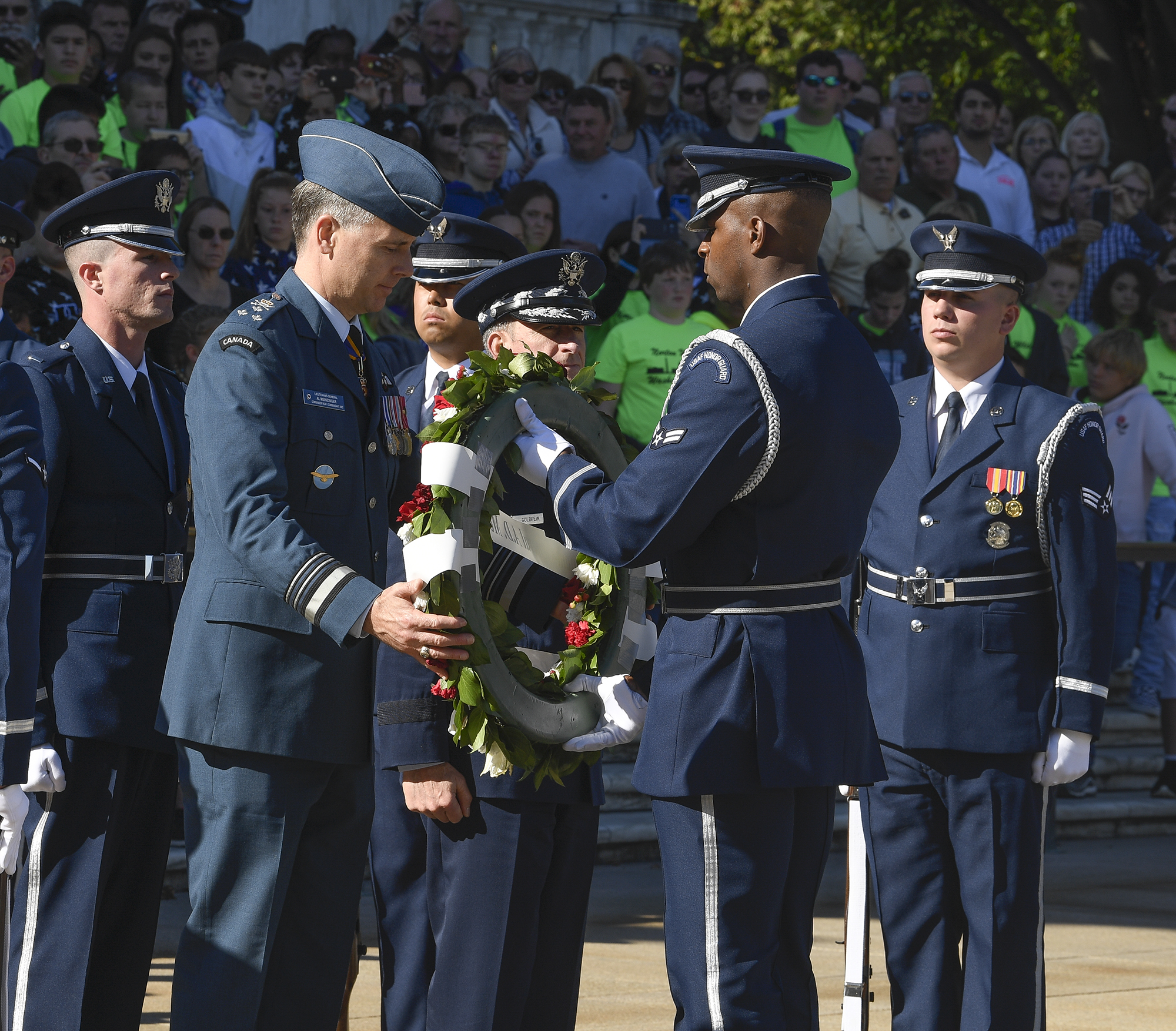 USAF Honor Guard, Band shine at wreath-laying
