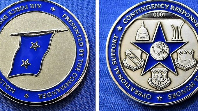 AFDW Airman designs new commander's coin