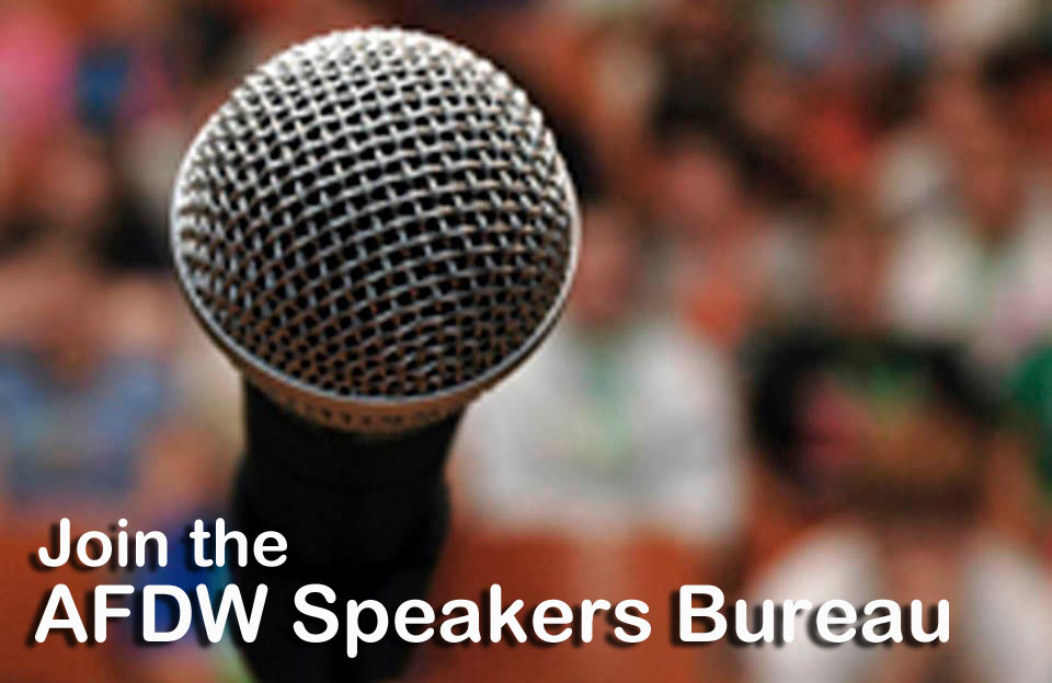 AFDW Speakers Bureau Link